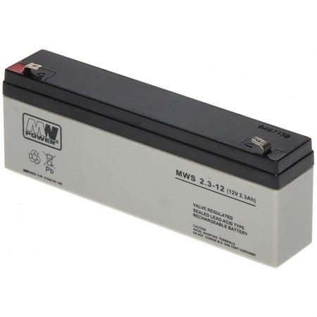 Akumulator 12V 2.3Ah żelowy MWS AGM VRLA