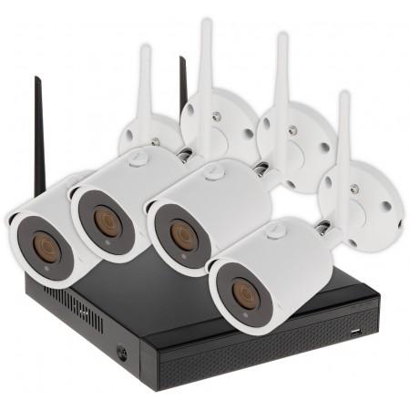 ZESTAW DO MONITORINGU APTI-KIT-WIFI-21C2 Wi-Fi, 4 KANAŁY - 1080p