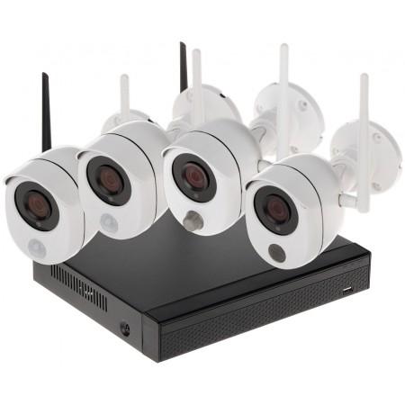 ZESTAW DO MONITORINGU APTI-KIT-WIFI-S-20C2 Wi-Fi, 4 KANAŁY - 1080p