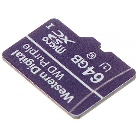 KARTA PAMIĘCI SD-MICRO-10/64-WD UHS-I, SDHC 64GB Western Digital