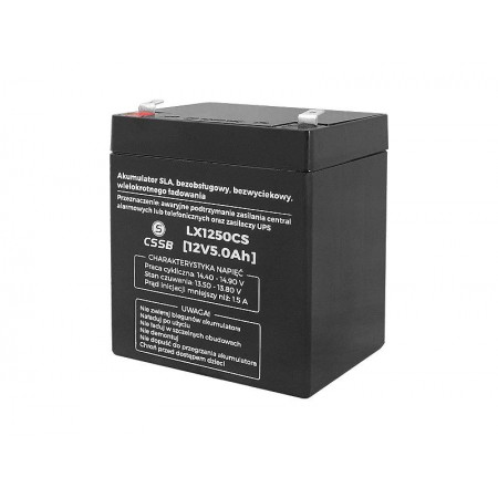 Akumulator żelowy AGM 12V 5Ah CSSB