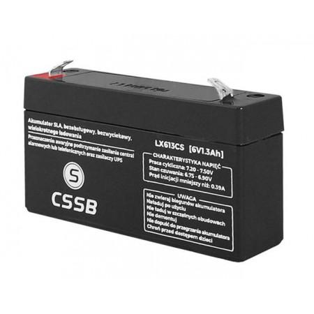 Akumulator 6V 1.3Ah CSSB żelowy AGM VRLA