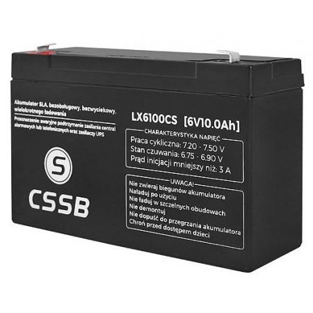 Akumulator żelowy AGM 6V 10Ah CSSB