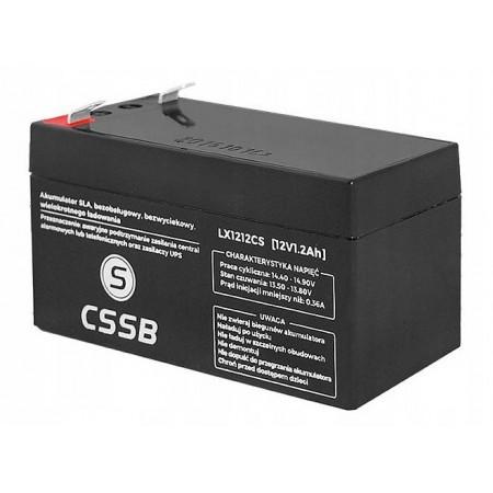 Akumulator 12V 1.2Ah CSSB żelowy AGM VRLA