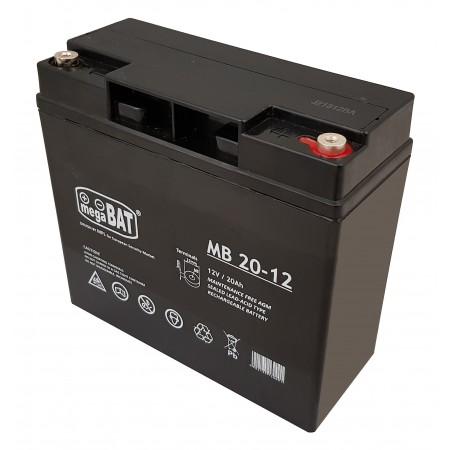 Akumulator AGM 12V 20Ah żelowy megaBAT VRLA