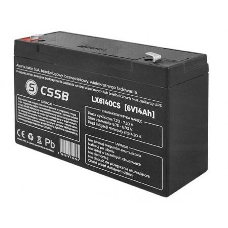 Akumulator żelowy AGM 6V 14Ah CSSB