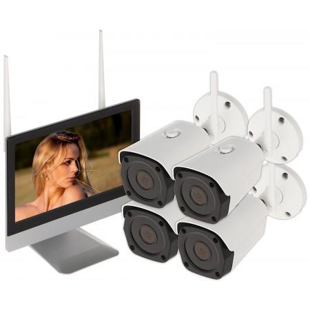 ZESTAW DO MONITORINGU APTI-KIT-WIFI-M50C2 Wi-Fi, 4 KANAŁY - 5Mpx