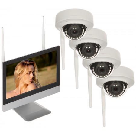 ZESTAW DO MONITORINGU APTI-KIT-WIFI-M20D2 Wi-Fi, 4 KANAŁY - 1080p