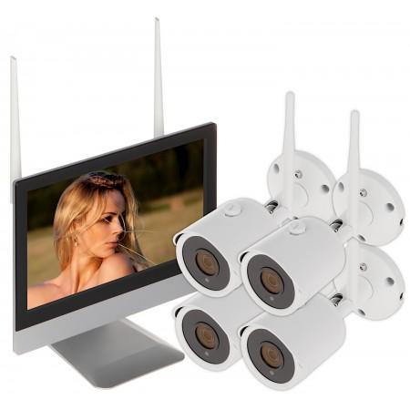 ZESTAW DO MONITORINGU APTI-KIT-WIFI-M20C2 Wi-Fi, 4 KANAŁY - 1080p