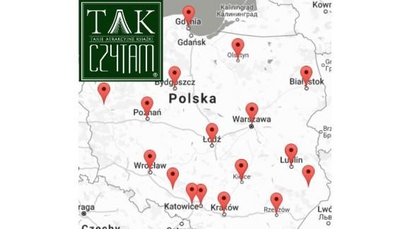 System Telewizji Przemysłowej w sieci księgarni Tak Czytam w całej Polsce
